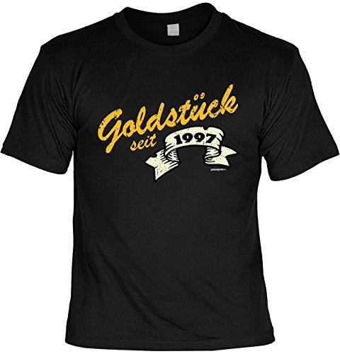 cooles T-Shirt zum 20. Geburtstag Geschenk zum 20 Geburtstag 20 Jahre Geburtstagsgeschenk 20-jähriger Goldstück seit 1997 Schwarz