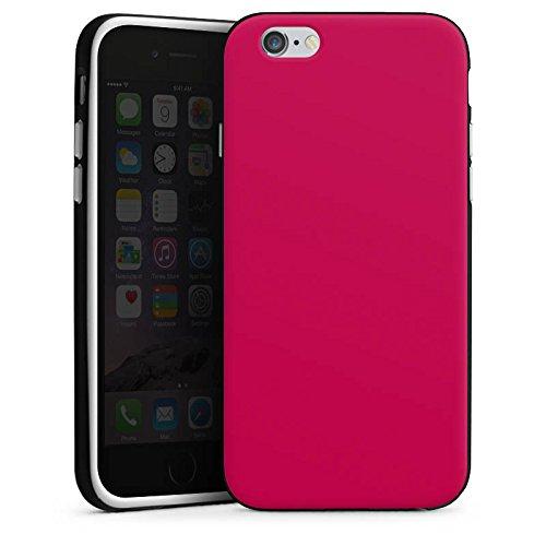 Apple iPhone X Silikon Hülle Case Schutzhülle Bordeaux Rot Red Silikon Case schwarz / weiß