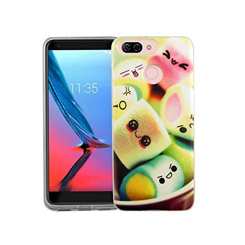König Design Handy-Hülle geeignet für ZTE Blade V9 Vita Marshmallows Bunt Case Cover Bumper