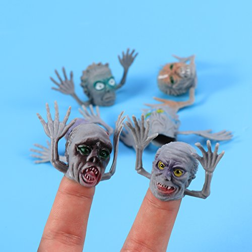 TOYMYTOY Zombie Monster Fingerpuppen Spielzeug - Ghost Head, Halloween Party Favors, 10 Stück