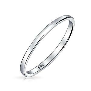 Bling Jewelry .925 Sterling Silver Wedding Band Thumb Ring Toe 2 millimetri