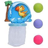 VGEBY1 Giocattoli da Bagno di Pallacanestro, palloni da Bagno per Bagno Set da Gioco Giocattoli da Toilette con 3 Palline per Bambini Piccoli