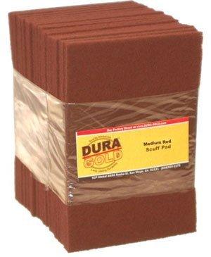 Dura-Gold 6 x 9 Premium Maroon General Purpose Scuff Pads, 20/ Pack by Dura-Gold -