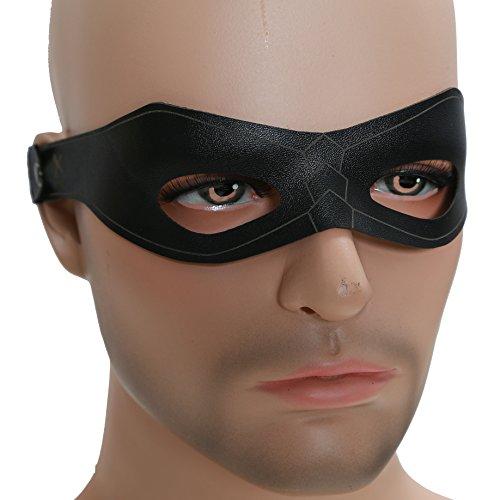 Oliver Maske Cosplay Herren Schwarz Fancy kühlen Cooler Augen Flecken Halloween Mask Kostüm Prop (Schwarz Augen Leder)