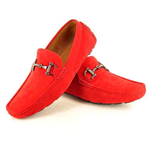 Herren-Schlupfschuh, Mokassin, sportlich-elegant Rot