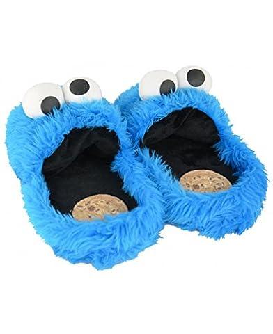 Sesame Street 3D Slipper XL 44 - 46 (UK 10 to 12) Cookie Monster Design