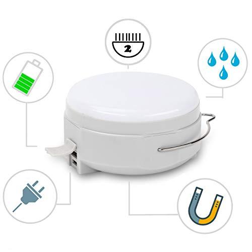LED Campinglampe mit USB Power-Bank Akku-Pack Outdoor Campinglaterne Taschenlampe Camping Lampe; Wieder-aufladbar; superhell; 2000mAh