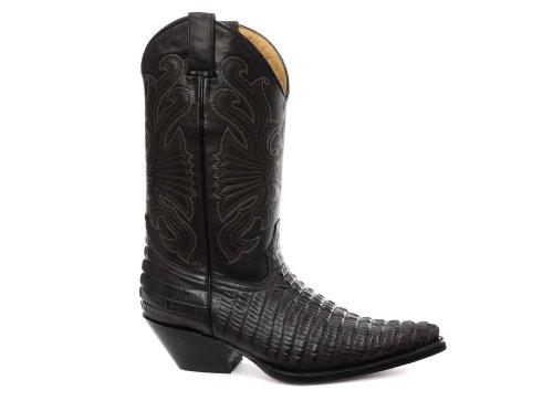 Grinders Carolina Herren Western Cowboy Stiefel, Schwarz, Größe 46 - Cowboy Western Stiefel