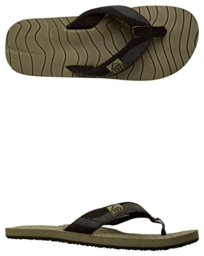 Reef Roundhouse, Tongs homme noir/olive
