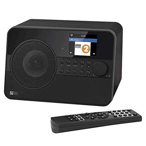Ocean Digital WR238CD Radio de Internet DAB / DAB + con Bluetooth / FM 2.4 'Pantalla LCD en color con control remoto - Negro
