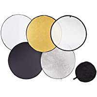 110CM 43 inch 5-in-1 Photography Studio Multi Photo Disc Collapsible Light Reflector