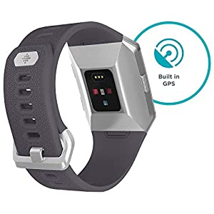 Fitbit Ionic Health & Fitness Smartwatch (GPS) with Heart Rate, Swim Tracking & Music - Blue-Grey/White