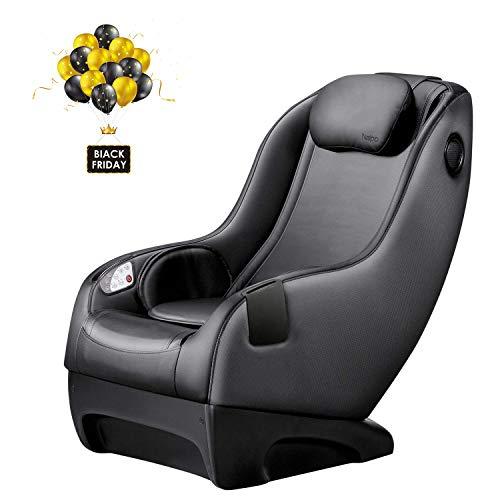 Naipo Shiatsu Massage Stuhl Massagesessel Ganzkörpermassagegerät mit SL Track, 3D Surround Sound Musik