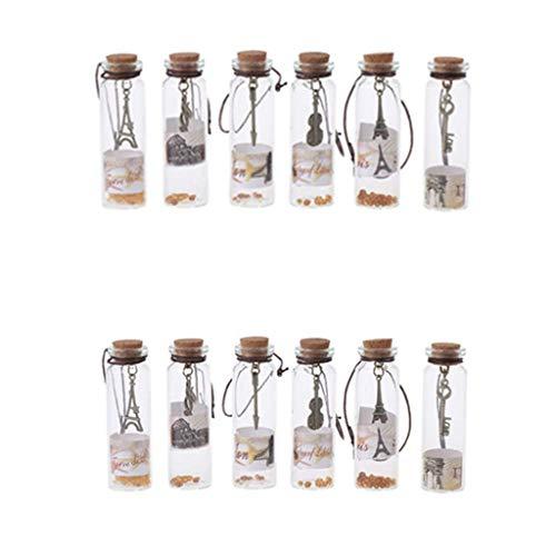Lunji Elegante Flaschen, Mini-Flaschen, Glasflaschen, Weihnachtsdekoration, Halloween, Hochzeit