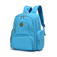 YuHan Baby Diaper Bag Travel Backpack Handbag Large Capacity Insulation Bag Fit Stroller Nappy Backpack Light Blue