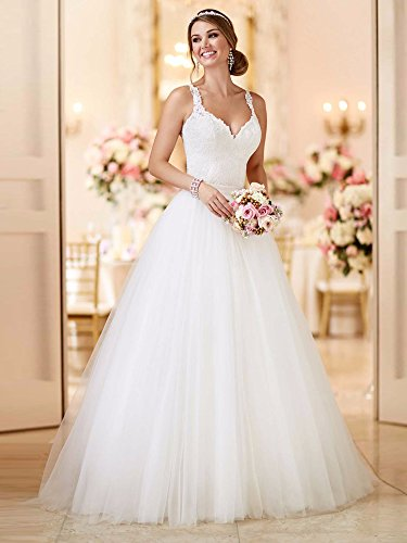 Tianshikeer Hochzeitskleid 2 Teilig Spitze Tüll Lang Sexy Brautkleid Zweiteilig - 2