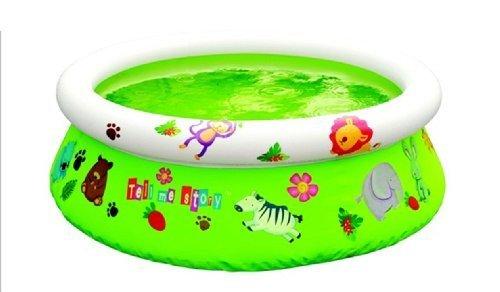 Oberirdische Schwimmbad aufblasbare obere Ring cm122x35 mit Aufklebern angepasst, mit Reparatur-Kit