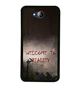 ifasho Designer Phone Back Case Cover Micromax Canvas Play Q355 ( Quotes on Attitude Life )