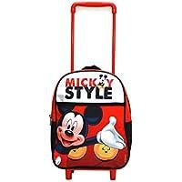Mochila trolley con ruedas mediana de 34cm de Mickey Mouse