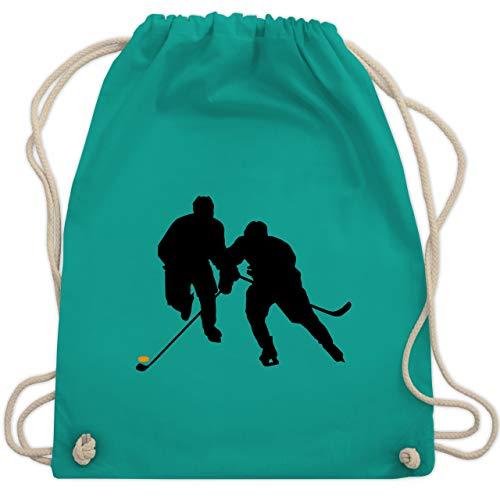 Eishockey - Eishockeyspieler - Unisize - Türkis - WM110 - Turnbeutel & Gym Bag