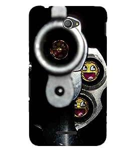 For Sony Xperia E4 Dual nice gun ( nice gun, beautiful gun, gun, bullete, black background ) Printed Designer Back Case Cover By TAKKLOO