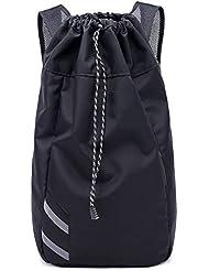 AUVSTAR dedicato basket/calcio, all' aperto Borsa da viaggio, impermeabile, zaino Lady/Men, adatto per sport all' aria aperta, viaggi, tempo libero, notebook/iPad (nero)