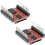 Demiawaking 2 x Mini MP3 Player Modul TF SD mit vereinfachtem Ausgang Lautsprecher für Arduino