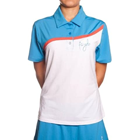 Fayde Blend - Polo donna, Blu (Electric/White),