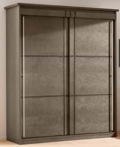 Armoire 2 portes coulissantes Mareva gris