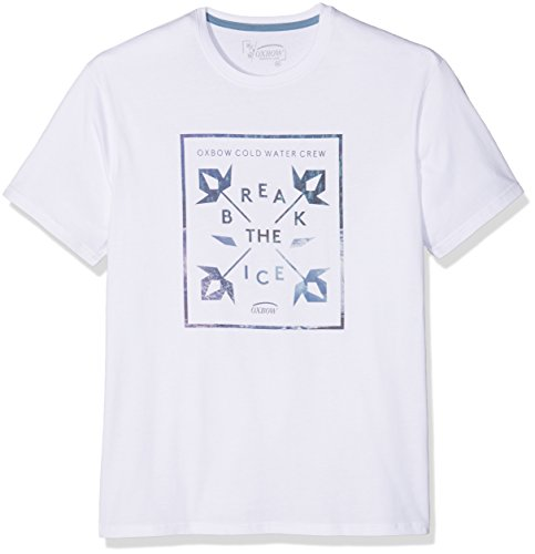 Oxbow H2tekhos T-Shirt a maniche corte, da uomo, Uomo, H2tekhos, bianco, XL
