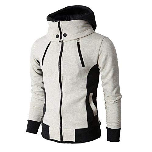 OSYARD Sweatshirt Homme Coton Hiver Chaud Sweat à Capuche Col Haut Pullover Pulls Hoodie Manteau
