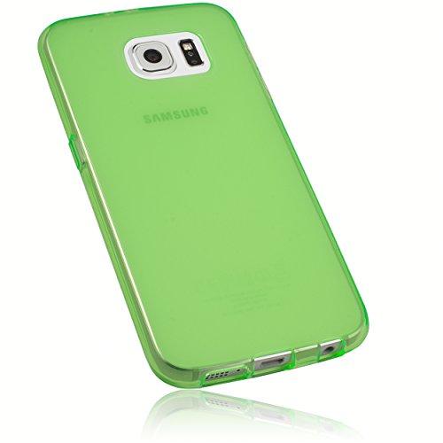 mumbi Schutzhülle Samsung Galaxy S6 / S6 Duos Hülle transparent grün (Slim - 1.2 mm)