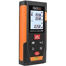 Telemetro Laser Distanziometro Classico, Tacklife HD40  in M / In / Ft con 2 Bolle d'aria e Funzione Muto, 4 Modalità di Pitagora Misuratore Precisa di Distanza, Superficie, Volume e Misura Continua (Campo di misurazione: 0,05 - 40m / ± 1,5mm, 2 Batterie incluse)