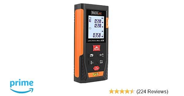 Tacklife Laser Entfernungsmesser : Tacklife hd 40 klassischer laser entfernungsmesser distanzmessgerät