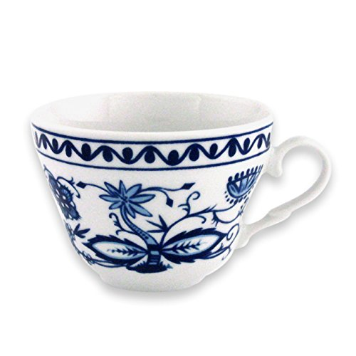 Triptis 1350380674732116 Romantika Zwiebelmuster Kaffeetasse, 180 ml, Porzellan, weiß/blau (4...