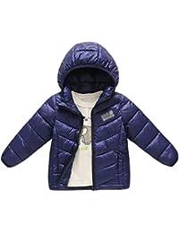 JEELINBORE Chaqueta de Invierno Plumón con Capucha para Niño Niña Unisex Ligero Compresible Cálido Abrigo…