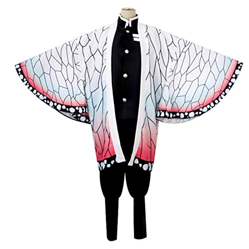 Cosplay Anime Muster Kostüm - YKJ Anime Cosplay Anime Charakter Schmetterling Muster Mantel Team uniform sonderkostüm Halloween kostüm,Full Set-XXL