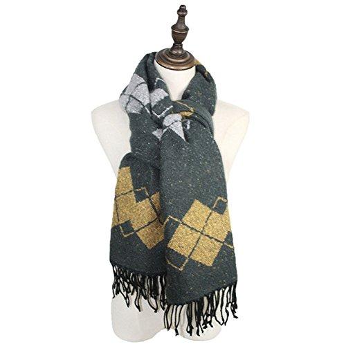 Mme Automne Et D'hiver épais Foulards Chaud Châle De Laine Sauvage 4#