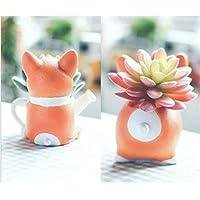 Nabati Cute Animal en forme de dessin animé Décoration Vase Pots de fleurs artificielles