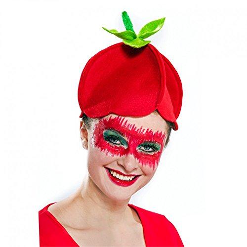 Für Erwachsene Kostüm Erdbeere - Festartikel Müller Erdbeeren Hut für Damen Einheitsgröße