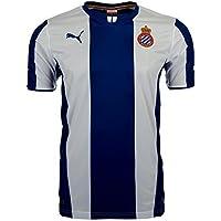 Puma RCD Espanyol Barcelona Camiseta 743865–01, Azul/Blanco, Small