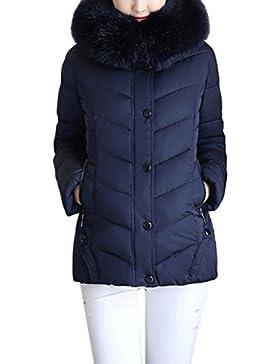 Zhuhaitf Moda para Mujer Women's Fashion Cotton Thick Short Down Jackets Winter Coats and Jackets with Hair Collar