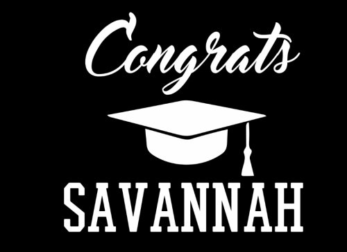Congrats Savannah: Graduation Cap Guest Signing Book For Party, Personalized Gift. Graduate Advice or Autograph Book Lined. (Tassel Zone) - Savannah Cap