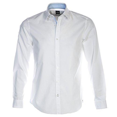Hugo Boss Regular Fit Hemd Langarm Lukas_51 Feinoxford Weiß Größe XXXL