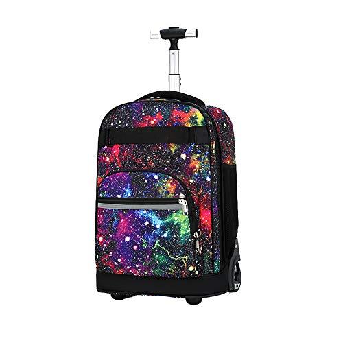 Borsa trolley zaino per adulti e studenti, borsa zaino multifunzione con ruote per bagagli borsa impermeabile per ragazzi e ragazze-C