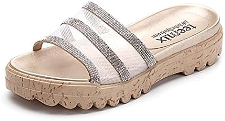 ZZHF Zapatillas de Baño de Verano Zapatillas de Piscina Zapatillas de Baño Gruesas (2 Colores Opcionales) (Tamaño...