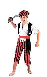 FIORI PAOLO-Corsaro disfraz niño M (5-7 anni) rojo