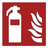 10 Feuerlöscher Aufkleber - Aufkleber Feuerlöscher vorgestanzt mit Hochglanz-Lack, selbstklebend, Feuerlöscher Schild, Sicherheitskennzeichen Zubehör Warnzeichen Brandschutzzeichen Aufkleber