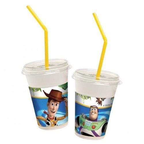 12 gobelets milkshake (accompagnés de couvercles et pailles) Disney Pixar Toy Story - 300ml