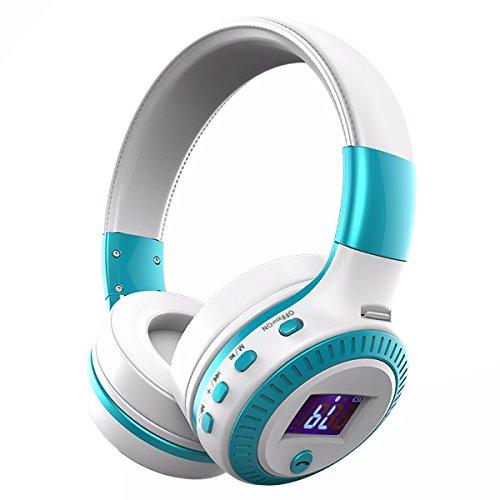 Cascos Bluetooth, ELEGIANT Auriculares Inalámbricos Bluetooth 4.0 Estéreo 4 Modos De Altavoz + Micrófono Tarjeta SD / FM/ TF Ranura / 3,5 Mm De Audio Compatibles Con Los Teléfonos Inteligentes Iphone X 8 7P 6 7 6plus Ipad Samsung Huawei Xiaomi HTC LG Portátiles Tablets Smartphone y Otros Dispositivos Bluetooth Color Blanco